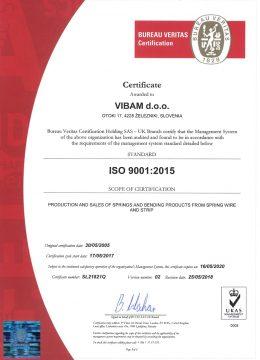 VIBAM doo-ISO 9001-RECERT-CERTIFICATE-2020 EN